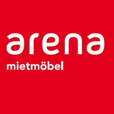 Das Logo von arena mietmöbel